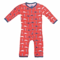 Kickee Pants Coverall in Poppy Surf Trip