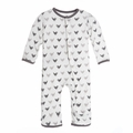 Kickee Pants Coverall in Rain Blackbirds