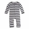 Kickee Pants Coverall in Rain Stripe