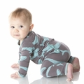 Kickee Pants Coverall in Rain Whale - last one size 0-3M!