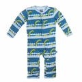 Kickee Pants Coverall in Sea Monster - size 0-3M left!