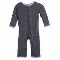 Kickee Pants Coverall in Stone
