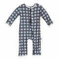 Kickee Pants Coverall in Stone Beach Ball