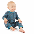 Kickee Pants Coverall in Stone River Lattice