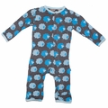 Kickee Pants Coverall in Stone Sheep