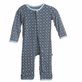 Kickee Pants Coverall in Stone Trellis - last one size 4T!