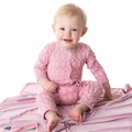Kickee Pants Coverall in Sweet Pea Lattice