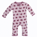 Kickee Pants Coverall in Sweet Pea Mammoth