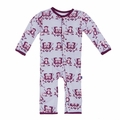 Kickee Pants Coverall in Thistle Monkey - size 4T left!