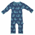 Kickee Pants Coverall in Twilight Nautilus