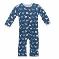 Kickee Pants Coverall in Twilight Polar Bear - last one size 3-6M!
