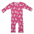 Kickee Pants Coverall in Winter Rose Nautilus