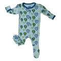 Kickee Pants Footie in Boy Balloons - last one size 4!