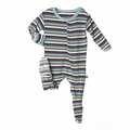 Kickee Pants Footie in Boy Space Stripe