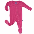 Kickee Pants Footie in Flamingo - size 12-18M left!