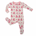 Kickee Pants Footie in Girl Natural Sailboat - size 2 & 4 left!