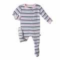 Kickee Pants Footie in Girl Space Stripe