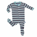 Kickee Pants Footie in Goldfish Stripe - last one size 0-3M!