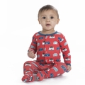 Kickee Pants Footie in Goldfish Toaster - size 0-3M left!
