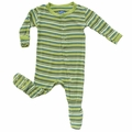 Kickee Pants Footie in Island Boy Stripe