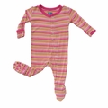 Kickee Pants Footie in Island Girl Stripe