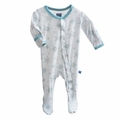 Kickee Pants Footie in Natural Snowflake - size 0-3M left!