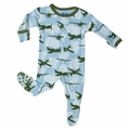 Kickee Pants Footie in Pond Airplane - sold out!