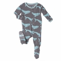 Kickee Pants Footie in Rain Whale - last one size 4T!