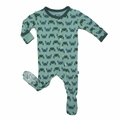Kickee Pants Footie in Shore Crab - last one size 4T!