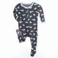 Kickee Pants Footie in Stone Bunny - size 18-24M left!