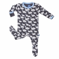 Kickee Pants Footie in Stone Geese - size 18-24M left!
