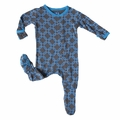 Kickee Pants Footie in Stone River Lattice - size 18-24M left!