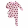 Kickee Pants Footie in Sweet Pea Mammoth - last one size 4T!