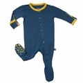 Kickee Pants Footie in Twilight/Lemon - size 18-24M left!