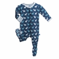Kickee Pants Footie in Twilight Polar Bear