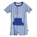 Kickee Pants Kangaroo Romper in Natural Wicker - last one size 0-3M!