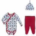 Kickee Pants Kimono Newborn Gift Set in Boy Flying Kites