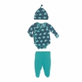 Kickee Pants Kimono Newborn Gift Set in Peacock Mammoth - last one size 3-6M!