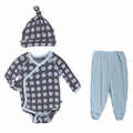 Kickee Pants Kimono Newborn Gift Set in Stone Beach Ball - size 3-6M left!