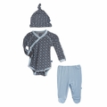 Kickee Pants Kimono Newborn Gift Set in Stone Trellis - sold out!