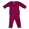 Kickee Pants Long Sleeve Pajama in Berry - size 3 & 4 left!