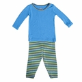 Kickee Pants Long Sleeve Pajama in Boy Farm Stripe - last one size 6!