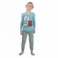 Kickee Pants Long Sleeve Pajama in Glacier Cookie