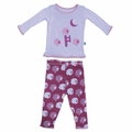 Kickee Pants Long Sleeve Pajama in Grapevine Sheep For Girls - last one size 6!