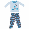 Kickee Pants Long Sleeve Pajama in Stone Sheep