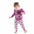 Kickee Pants Long Sleeve Pajama Set in Sweet Pea Mammoth