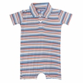 Kickee Pants Polo Romper in Campout Stripe