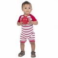 Kickee Pants Raglan Romper in Balloon Stripe - size 3M left!