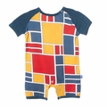 Kickee Pants Raglan Romper in Bauhause