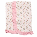 Kickee Pants Ruffle Bamboo Blanket in Natural Buds